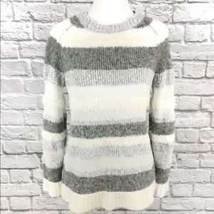 Lou & Grey Alpaca & Wool Blend Striped Sweater XS